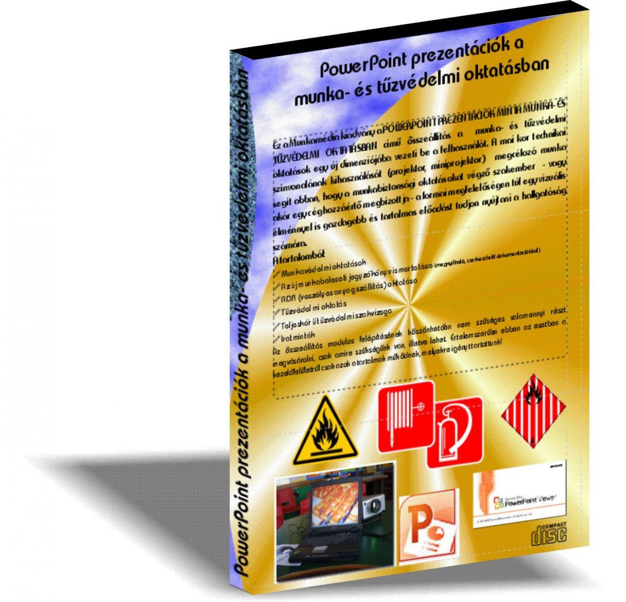 Tűzvédelmi oktatás prezentációk CD