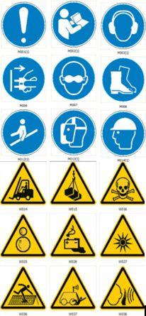 Grafikus szimbólumok, biztonsági jelzések ISO 7010:2020 (Jelek, táblák, szimbólumok dokumentum-csomag)
