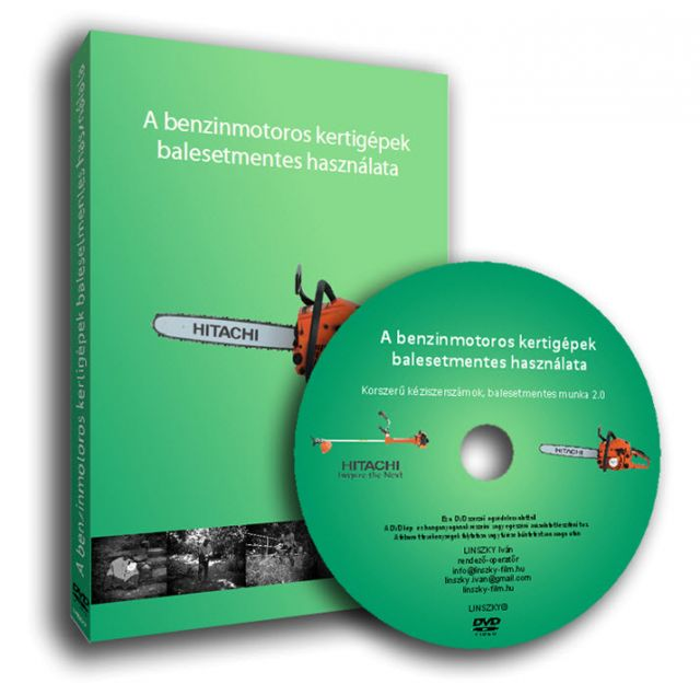 A benzinmotoros kertigépek balesetmentes használata DVD